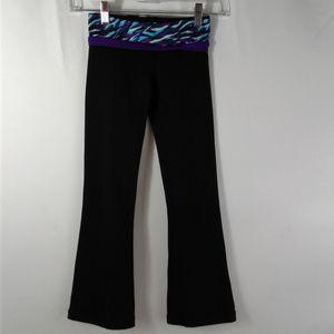 Ivivva by Lululemon Girls Size 7 Black Yoga Pants